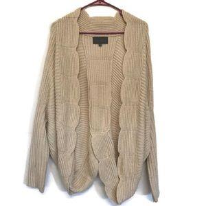 Sunday in Brooklyn Cardigan Sweater Scalloped
